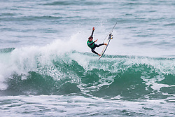William Aliotti (FRA) surfing in Qualifying Round 2 Heat 3 of the WSL Redbull Airborne event in Hossegor, France.