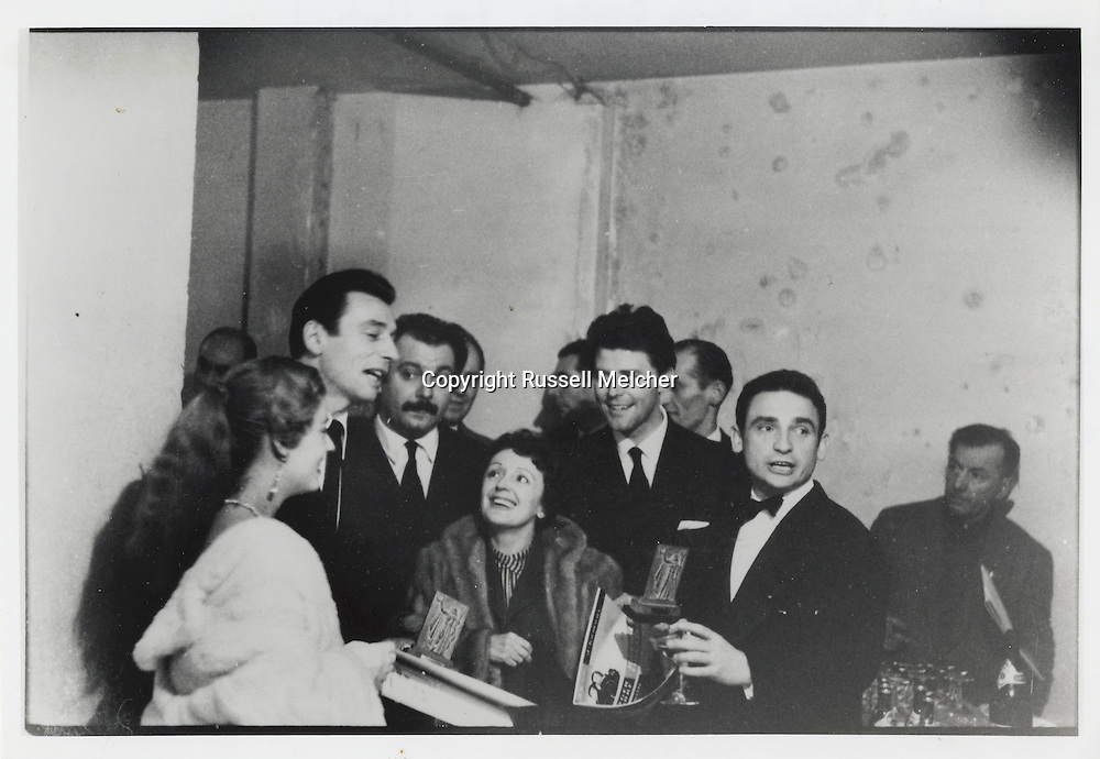 Yves Montand, George Brassens, Edith Piaf, Gerard Phillipe and famous french movie director, Henri Georges Clouzot.