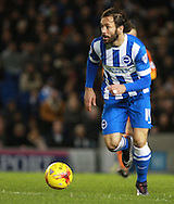 Brighton defender full back Inigo Calderon during the Sky Bet Championship match between Brighton and Hove Albion and Ipswich Town at the American Express Community Stadium, Brighton and Hove, England on 29 December 2015. Photo by Bennett Dean.