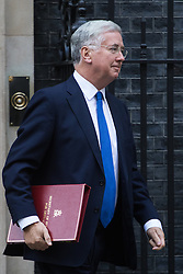 Downing Street, London, October 18th 2016. Defence Secretary Michael Fallon leaves 10 Downing Street in London following the weekly cabinet meeting.