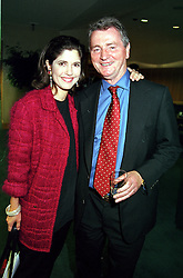 MISS KIMBERLEY FORTIER publisher of The Sprctator and MR STEPHEN QUINN, at a reception in London on 20th September 2000.OHD 54