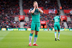Tottenham Hotspur's Harry Kane rues a missed chance during the Premier League match at St Mary's Stadium, Southampton.