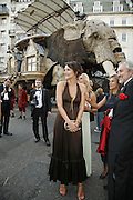 Saffron Aldridge in front of The Sultan's Elephant, Ark Gala Dinner, Marlborough House, London. 5 May 2006. ONE TIME USE ONLY - DO NOT ARCHIVE  © Copyright Photograph by Dafydd Jones 66 Stockwell Park Rd. London SW9 0DA Tel 020 7733 0108 www.dafjones.com