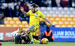 Stuart Sinclair of Bristol Rovers is tackled by Jerome Thomas of Port Vale - Mandatory by-line: Robbie Stephenson/JMP - 18/02/2017 - FOOTBALL - Vale Park - Stoke-on-Trent, England - Port Vale v Bristol Rovers - Sky Bet League One