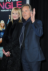 Feb. 3, 2016 - New York, NY, USA - February 3, 2016 New York City..Melanie Griffith and Don Johnson attending the 'How To Be Single' New York premiere at NYU Skirball Center on February 3, 2016 in New York City...Credit: Kristin Callahan/ACE Pictures.: (Credit Image: © Callahan/Ace Pictures via ZUMA Press)