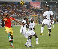 Photo: Steve Bond/Richard Lane Photography.<br />Ghana v Guinea. Africa Cup of Nations. 20/01/2008. Michael Essien (R) header hits the post