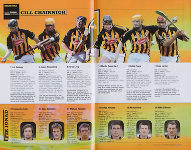 All Ireland Senior Hurling Championship Final, .07092008AISHCF,.07.09.2008, 09.07.2008, 7th September 2008,.Kilkenny 3-30, Waterford 1-13,.Minor Kilkenny 3-6, Galway 0-13, .M Kavanagh, N Hickey, J Tyrrell, T Walsh, B Hogan, J J Delaney, J Fitzpatrick, D Lyng, H Shefflin, M Comerford, E Larkin, E Brennan, R.Power, A.Fogarty  Subs, T J Reid for Comerford, J McGarry for Ryan, .