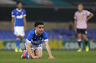 Ipswich Town midfielder Tristan Nydam (22) during the EFL Sky Bet Championship match between Ipswich Town and Sunderland at Portman Road, Ipswich, England on 26 September 2017. Photo by Phil Chaplin.