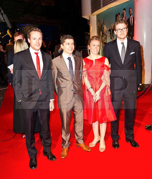 © London News Pictures. 07/11/2013. London, UK. Production team - Ed Clifton, Michael Stranney, Lucy Gosling & Ed Dagget, attending Virgin Media Shorts, BFI IMAX. Photo Credit: Raimondas Kazenas/LNP