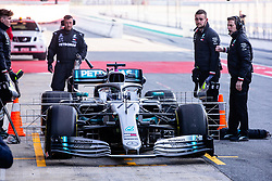 February 18, 2019 - Montmelo, BARCELONA, Spain - Valtteri Bottas fo Finland with 77 of Mercedes AMG Petronas Motorsport W10 in action at the pitlane during the Formula 1 2019 Pre-Season Tests at Circuit de Barcelona - Catalunya in Montmelo, Spain on February 18. (Credit Image: © AFP7 via ZUMA Wire)