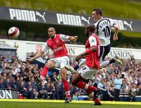 Photo: Ed Godden/Sportsbeat Images.<br /> Tottenham Hotspur v Arsenal. The Barclays Premiership. 21/04/2007. Spurs' Robbie Keane has a shot saved.