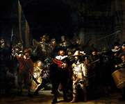 The Night Watch' or 'The Militia Company of Captain Frans Banning Cocq', 1642.  Oil on canvas. Rembrandt  van Rejn (1606-1669) Dutch painter. Men of the civic guard.