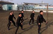Boys playing football.Kangan Primary school in Sonkyo District, Pyongyang..copyright: Jeremy Horner 2004.(C)Jeremy Horner.15 Mar 2004Pyongyang, North Korea, DPRK