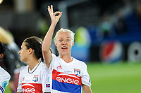Caroline Seger of Olympique Lyon celebrates the victory during the UEFA Women's Champions League Final between Lyon Women and Paris Saint Germain Women at the Cardiff City Stadium, Cardiff, Wales on 1 June 2017. Photo by Giuseppe Maffia.<br /> <br /> Giuseppe Maffia/UK Sports Pics Ltd/Alterphotos