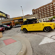 Restored VW Thing out for a drive during a First Friday event in Kansas City, Missouri.