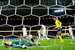 November 20, 2018 - Stockholm, Sweden - 181120 Goalkeeper Andrei Lunev of Russia looks dejected after the 2-0 goal from Marcus Berg of Sweden (not pictured) during the Nations League football match between Sweden and Russia on November 20, 2018 in Stockholm..Photo: Petter Arvidson / BILDBYRN / kod PA / 87811 (Credit Image: © Petter Arvidson/Bildbyran via ZUMA Press)