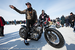 Michael Goloshchapov with his 1980 H-D Ironhead 1000cc racer at the