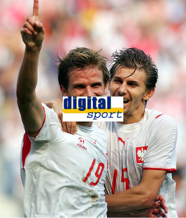 1:2 Jubel v.l. Torschuetze Bartosz Bosacki, Ebi Smolarek Polen<br /> Fussball WM 2006 Costa Rica - Polen<br /> Norway only