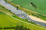 Nederland, Limburg, Gemeente Stein, 26-06-2014; Maasband, ondiepte in de Grensmaas.<br /> Shoal in the Meuse.<br /> luchtfoto (toeslag op standard tarieven);<br /> aerial photo (additional fee required);<br /> copyright foto/photo Siebe Swart
