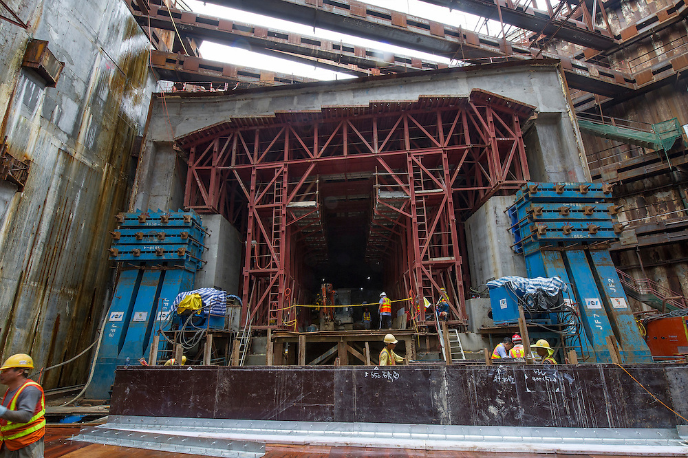 VSL Intrafor is building a tunnel under the MTR, to be part of the Hong Kong–Zhuhai–Macau Bridge, on 02 Septembre 2016 in Hong Kong, China. Photo by Lucas Schifres / Illume visuals