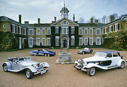 Speciality automobiles designed and produced by Panther Westwind, on display at stately home Polesdon Lacey, Surrey