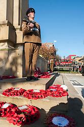 Remembrance Sunday Barnsley Corner guard from 4 Yorks reverse arms<br /> <br />   12 November2017 <br />   Copyright Paul David Drabble<br />   www.pauldaviddrabble.co.uk