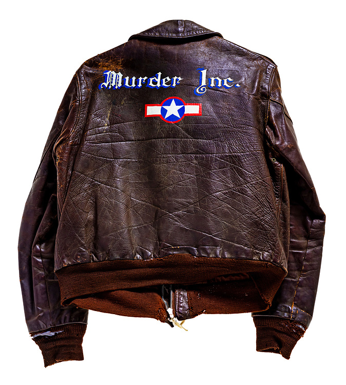 Kenneth D. Williams,  of the 351st BG, was captured after bailing out of his stricken aircraft, and was photographed wearing this jacket. Soon it became a political pawn for Hitler, who claimed that hardcore criminals were being taken from American jails and trained as air crew, so they could kill innocent German women and children.  It became worldwide news, and fostered a much tighter policy on jacket artwork.