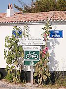 Roadsigns in Les Portes-en-Ré, Île de Ré, France