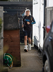 © Licensed to London News Pictures. 05/04/2020. Stoneleigh, UK. Kevin Webber runs the equivalent 32.2Km 1st Stage of the Marathon des Sables ultramarathon in his Surrey garden during lockdown. Kevin, who was diagnosed with terminal prostate cancer just over 5 years ago, was due to take part in his 5th consecutive running of what is described as the 'toughest foot race on Earth' through the Sahara Desert in Southern Morocco this month, but the 2020 six day race has been postponed until September. Kevin will be running the entire 230Km (143 miles) 6 stage race in his small back and front gardens, completing 2734 laps, finishing on Easter Saturday. Kevin is raising funds for the National Emergencies Trust Coronavirus Appeal who will distribute the funds to where they are needed most in the UK and he will jointly split what he raises with Prostate Cancer UK. Photo credit: Peter Macdiarmid/LNP