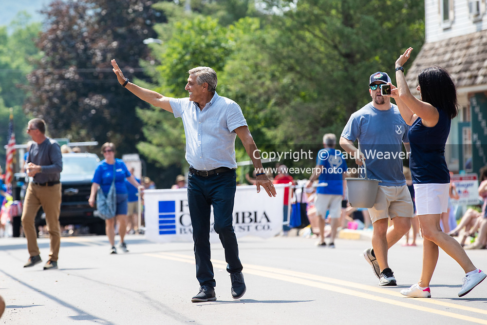 Republican candidate for Pennsylvania governor and former congressman Lou Barletta walks in the Independence Day Parade in Millville, Pennsylvania on July 5, 2021.