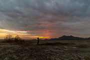 A photyographer's sunset in Rajasthan, India.