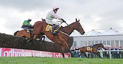 Chacun Pour Soi ridden by Robbie Power jumps the last to win The Ryanair Novice Steeplechase during day three of the Punchestown Festival at Punchestown Racecourse, County Kildare, Ireland.