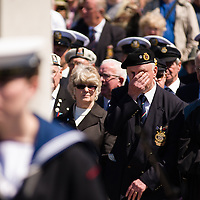 Liverpool, UK, 25th May, 2013. Royal Navy veterans take part in a ceremony in Liverpool as part of the 70th anniversary celebrations of the Battle of the Atlantic.