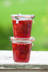 Strawberry and pink pepper jam