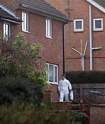 © under license to London News Pictures. 13/12/2010 Forensics attend the scene of  murder in Banbury, Oxfordshire today (Mon). A man was arrested in Swindon today following the discovery of two bodies at a property in Mold Crescent, Banbury, in the early hours of this morning (13/12/2010). Photo credit should read Stephen Simpson/LNP.