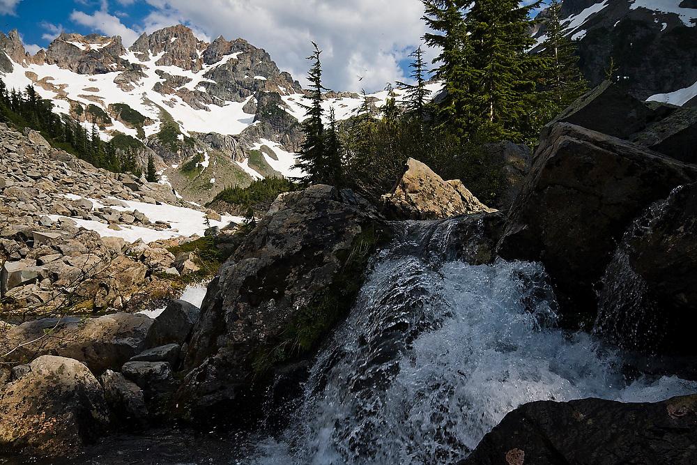A stream in Glacier Basin, Mount Baker-Snoqualmie National Forest, Washington.