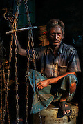 Portrait of a metal worker, Taltala district, Calcutta