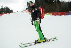 Coach Klemen Bergant of Slovenia after the 1st Run during Men Slalom race of FIS Alpine Ski World Cup 54th Vitranc Cup 2015, on March 15, 2015 in Kranjska Gora, Slovenia. Photo by Vid Ponikvar / Sportida