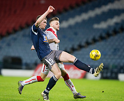 Queen's Park Ryan McGeever and Airdrie's Iain Russell. Queen's Park 2 v 1 Airdrie, Scottish Football League Division One game played 7/1/2017 at Hampden.