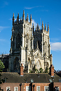 """York Minster, built over 250 years 1220-1472 AD, is one of the finest medieval buildings in Europe. Also known as St Peter's, its full name is """"Cathedral and Metropolitical Church of St Peter in York,"""" located in England, United Kingdom, Europe. York Minster is the seat of theArchbishop of York, the second-highest office of theChurch of England.""""Minster"""" refers to churches established in the Anglo-Saxon period as missionary teaching churches, and now serves as an honorific title.York was founded by the Romans as Eboracum in 71 AD. As the center of the Church in the North, York Minster has played an important role in great national affairs, such as during the Reformation and Civil War."""