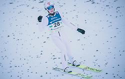 15.02.2020, Kulm, Bad Mitterndorf, AUT, FIS Ski Flug Weltcup, Kulm, Herren, im Bild Robin Pedersen (NOR) // Robin Pedersen of Norway during his Jump for the men's FIS Ski Flying World Cup at the Kulm in Bad Mitterndorf, Austria on 2020/02/15. EXPA Pictures © 2020, PhotoCredit: EXPA/ Dominik Angerer