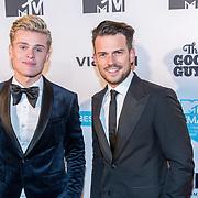 NLD/Amsterdam/20171106 - MTV Pre party 2017, Kaj van der Voort en Levi van Kempen