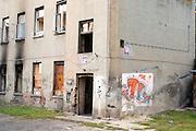 Abandoned Polish building. Balucki District Lodz Central Poland