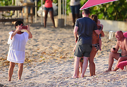 EXCLUSIVE: Wayne Rooney and family spotted on the beach in Barbados. 26 May 2017 Pictured: Wayne Rooney and Coleen Rooney. Photo credit: 246paps/MEGA TheMegaAgency.com +1 888 505 6342