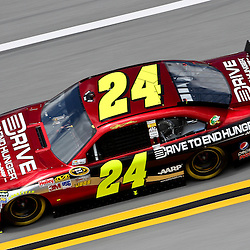 April 16, 2011; Talladega, AL, USA; NASCAR Sprint Cup Series driver Jeff Gordon (24) during qualifying for the Aarons 499 at Talladega Superspeedway.   Mandatory Credit: Derick E. Hingle