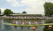 06/07/03/03 .2003 Henley Royal Regatta - Sun.Leander RC passing the Stewards Encloure by the progress Board, in the Final of the Prince Philip Challenge Cup - Matt Pinsent and James Cracknell 2003 Henley Royal Regatta Rowing Courses, Henley Reach , Henley Reach . HRR.