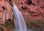 Arizona, Supai, Havasupai Nation. Havasu Falls, Reservation, Grand Canyon region, Havasu Canyon, Havasu River tributary of Colorado River