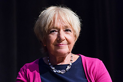 © Licensed to London News Pictures. 02/09/2018. London, UK.  Dame Margaret Hodge MP in conversation with Jonathan Freedland (not pictured) at the Jewish Labour Movement Conference 2018..  Photo credit: Vickie Flores/LNP