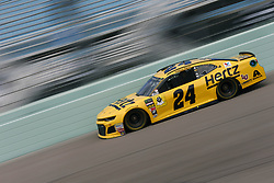 November 17, 2018 - Homestead, Florida, U.S. - William Byron (24) takes to the track to practice for the Ford 400 at Homestead-Miami Speedway in Homestead, Florida. (Credit Image: © Justin R. Noe Asp Inc/ASP)