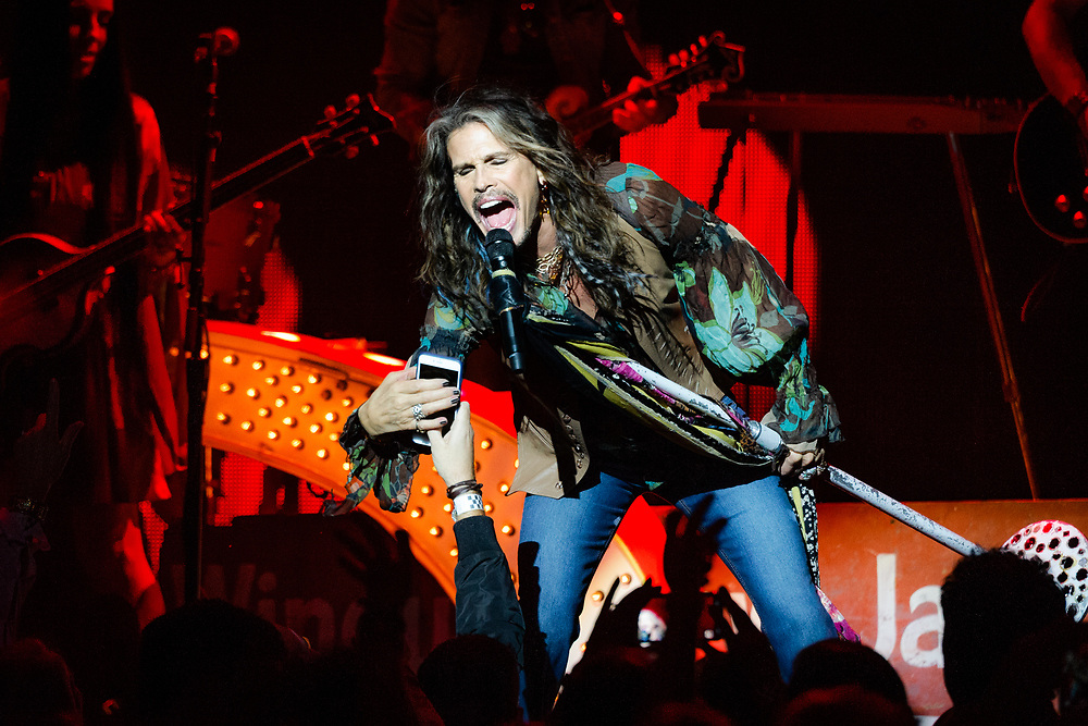 Steven Tyler performing live at the Masonic concert venue in San Francisco, CA on July 14, 2016
